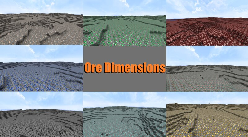 [Extra Dimensions] - Ore Dimensions! Different Dimensions For Each Ore!