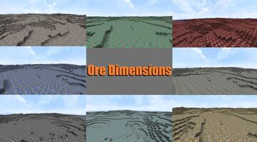 [Extra Dimensions] - Ore Dimensions! Different Dimensions For Each Ore! Minecraft Data Pack