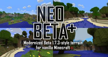 Neo-Beta Plus: Beta 1.7.3-style terrain, with modern structures, blocks and mobs Minecraft Data Pack