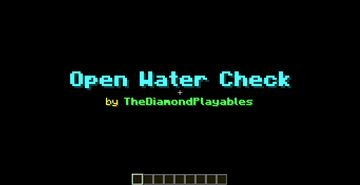 Fishing: Open Water Check [1.16x] Minecraft Data Pack