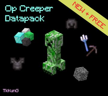 Op Creeper (Discontinued) Minecraft Data Pack