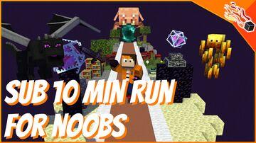"""Legit"" Speedrun - Sub 10 min runs for anyone ;) Minecraft Data Pack"