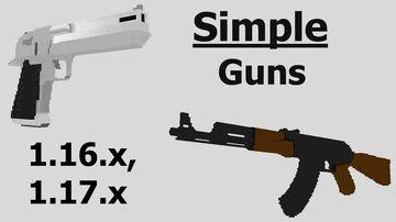 Simple Guns Datapack v2.3 for 1.16 - 1.18 Minecraft Data Pack
