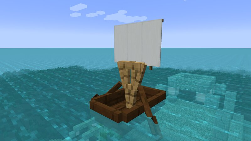 Dark Oak boat- you can use any type of wood!