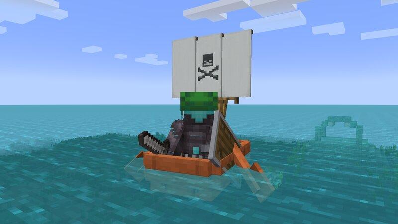 Sailin' the high seas.