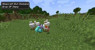 Minecraft But Killing Chickens Drops OP Loot Minecraft Data Pack