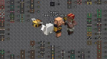 Spawn Eggs Craftable for 1.17 Minecraft Data Pack