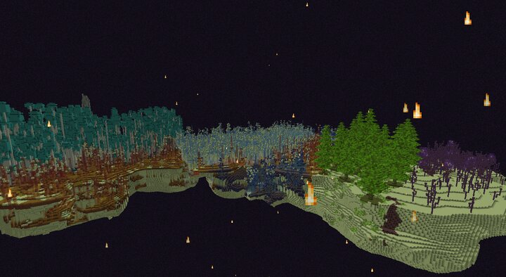 Many Biomes near eachother