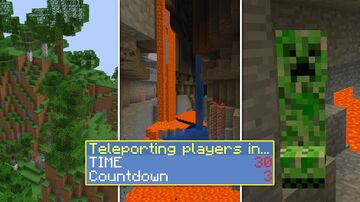Minecraft but you are randomly teleported every 60 seconds Minecraft Data Pack