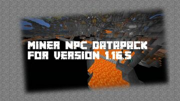 NPC Miner AFK Mining Minecraft Data Pack