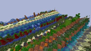 Each chunk is a single biome Minecraft Data Pack