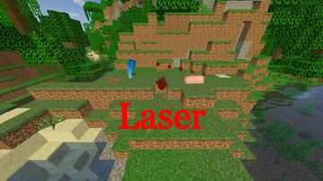 Minecraft, but you have a laser! Minecraft Data Pack