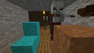 Villager and pillager mine Minecraft Data Pack