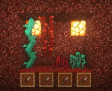Shearly Consistent (Nether Roots and Vines) Minecraft Data Pack