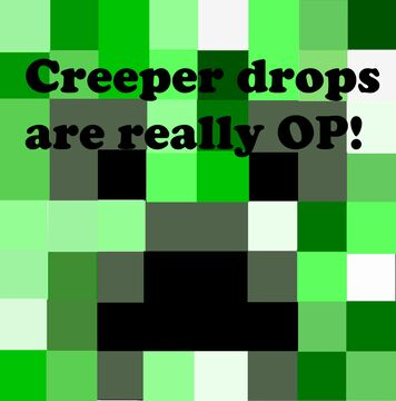 Creepers drop OP items Minecraft Data Pack