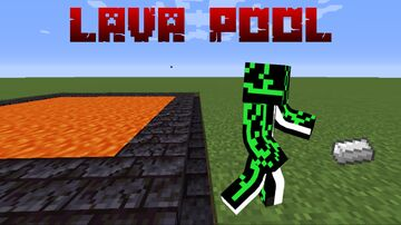 Craftable Lava Pool! (Great for Speedrunning) Minecraft Data Pack