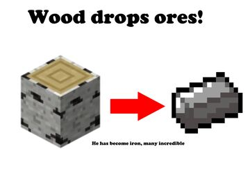 Minecraft, but wood drops ores Minecraft Data Pack