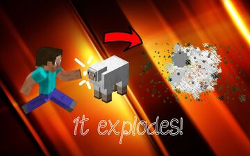 Minecraft, but every time you punch something, it explodes! Minecraft Data Pack