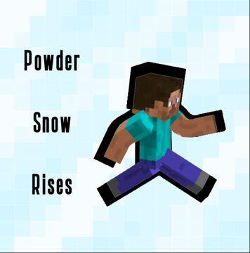 Minecraft, but powder snow rises Minecraft Data Pack