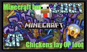 Chickens Lay OP Loot! Minecraft Data Pack