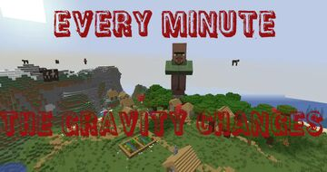 every minute the minecraft gravity changes! Minecraft Data Pack