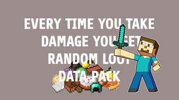 EVERY TIME YOU TAKE DAMAGE YOU GET RANDOM LOOT DATA PACK Minecraft Data Pack