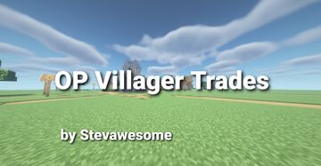 Minecraft But,  Villager Trades are OP Minecraft Data Pack