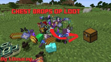 Minecraft, But Chest drops OP Loot! Minecraft Data Pack