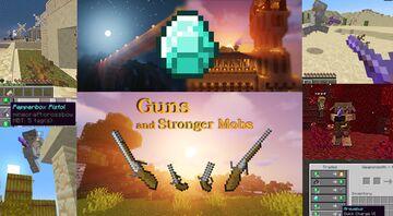 Guns and Stronger Mobs Minecraft Data Pack