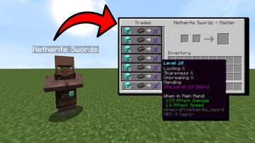Villagers With Super Enchanted Tools! Minecraft Data Pack