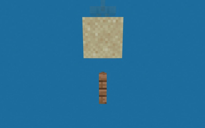 Sand hovers above fences like in old 1.11 Minecraft