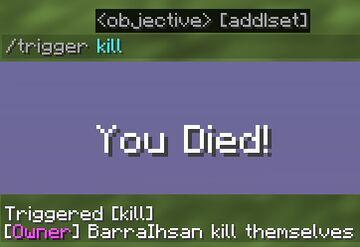 Kill yourself Minecraft Data Pack