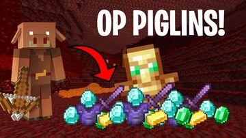 Minecraft But Piglins Drop OP Loot Minecraft Data Pack