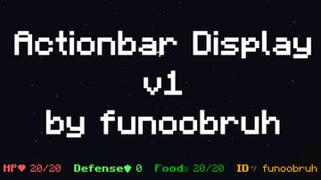 Actionbar Display v1 (English Version) Minecraft Data Pack