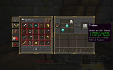 craftable tridents! Minecraft Data Pack