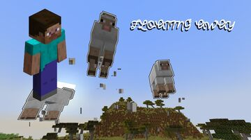 All nearby mobs float away Minecraft Data Pack