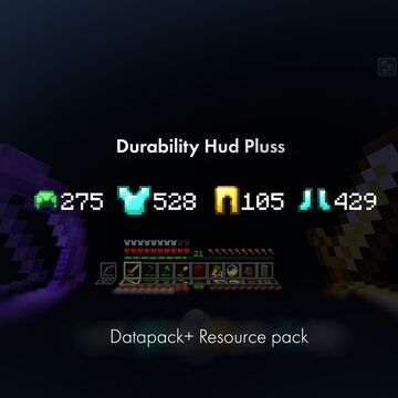 Durability Hud + Minecraft Data Pack