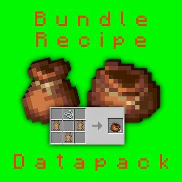 1.17+ Bundle Recipe (Mini Datapack) V1.2 Minecraft Data Pack
