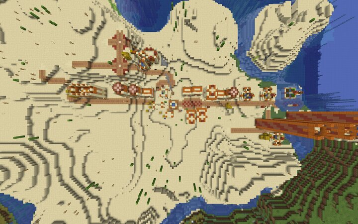 An example Village generated with Remade Vanilla