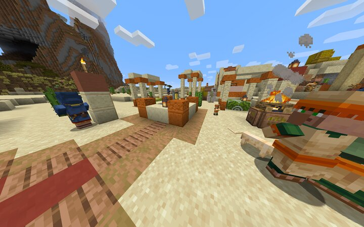 Town Centers in EVERY village generate Iron Golem and 4 Wandering Traders now