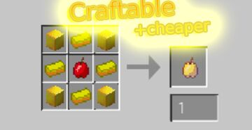 Craftable + cheaper enchantedgoldenapples! Minecraft Data Pack
