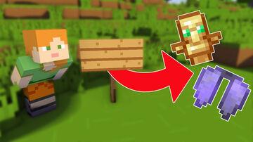 Minecraft but Signs Drop Op Loot Minecraft Data Pack
