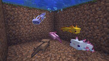 Blue Axolotl Spawning Minecraft Data Pack