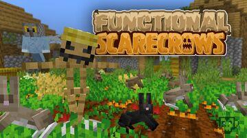 "Functional Scarecrows - ""Run Rabbits Run"" Minecraft Data Pack"