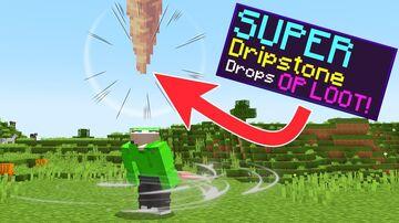 MINECRAFT BUT DRIPSTONE FALLS DROPS OP LOOT (PLUGIN) Minecraft Mod