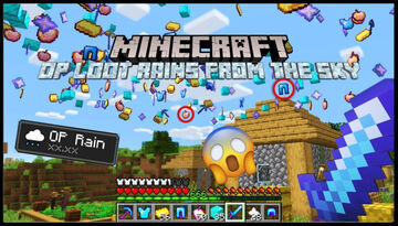 OP Loot Rains From The Sky! Minecraft Data Pack