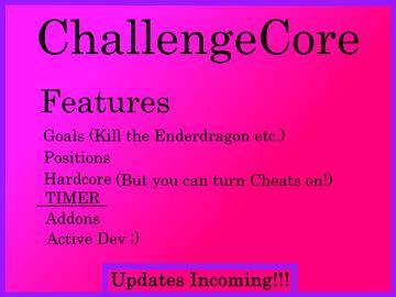 ChallengeCore v5   Timer, Positions, DeathEvent etc. Minecraft Data Pack