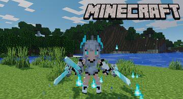 Custom Sword & Outfit Heavenly Strike Sword Minecraft Data Pack