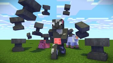 Minecraft But Anvils Fall From the Sky Minecraft Data Pack