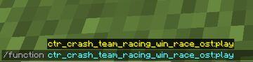 Crash Team Racing | Win Race OST | Data Pack Minecraft Data Pack